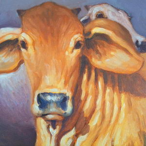 Golden Brahma / Oil on Panel / 6 x 6 Inches ©JohnFarnsworth
