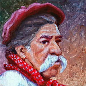Man of the Pampas / Oil on Panel / 6 x 6 Inches ©JohnFarnsworth