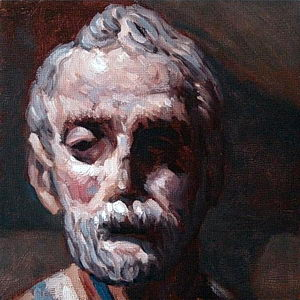 Santo Oil on Panel 6x6 ©JohnFarnsworth