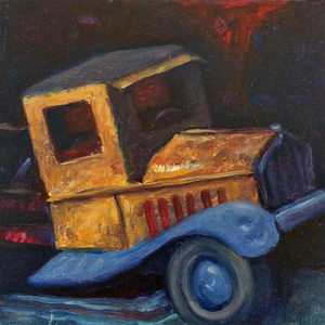 Tin Truck / Oil on Panel / 6 x 6 Inches / ©JohnFarnsworth