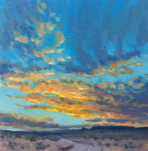 High Desert Sunset / Oil on Panel / 6 x 6 Inches ©JohnFarnsworth