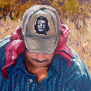 Weedcutter / Oil on Panel / 6 x 6 Inches ©JohnFarnsworth