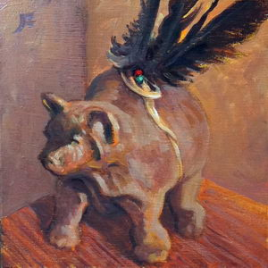 Bear Fetish / Oil on Panel / 6 x 6 Inches ©JohnFarnsworth