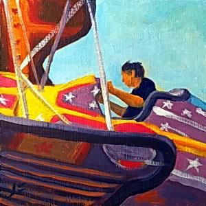 Flyin' High / Oil on Panel / 6 x 6 Inches ©JohnFarnsworth