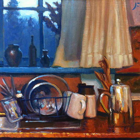 THE KITCHEN SINK Daily Painting #211 – A FARNSWORTH A DAY