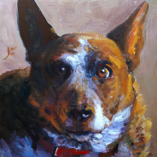 Dolly / Oil on Panel / 6 x 6 Inches / ©John Farnsworth