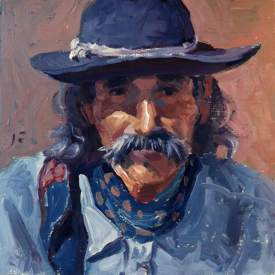 Gaucho Study / Oil on Panel / 6 x 6 Inches / ©John Farnsworth
