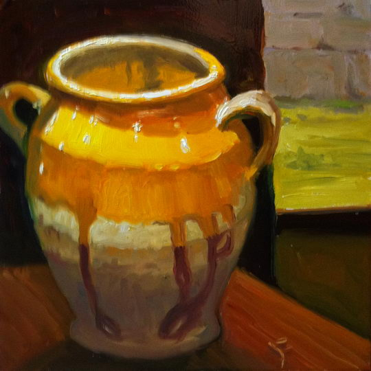 Earthen Ware Jar / Oil on Panel / 6 x 6 Inches / ©John Farnsworth