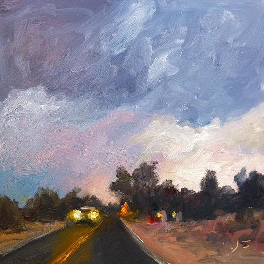 County Road 70 / Oil on Panel / 6 x 6 Inches / ©John Farnsworth