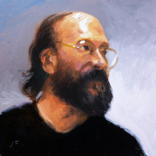 The Educator / Oil on Panel / 6 x 6 Inches / ©John Farnsworth