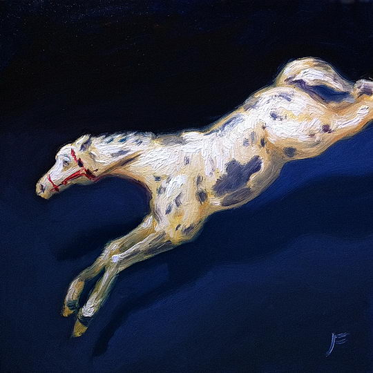 Toy French Horse / Oil on Panel / 6 x 6 Inches / ©John Farnsworth