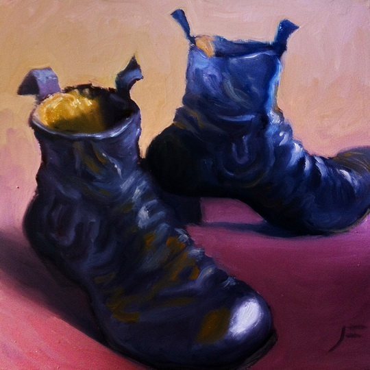 THE FLAMENCO DANCER'S SHOES Daily Painting #475