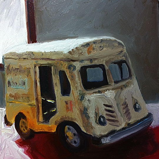 TOY MILK TRUCK / Oil on Panel / 6 x 6 Inches / ©John Farnsworth