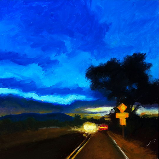 WEST ON ALAMEDA / Oil on Panel / 6 x 6 Inches / ©John Farnsworth