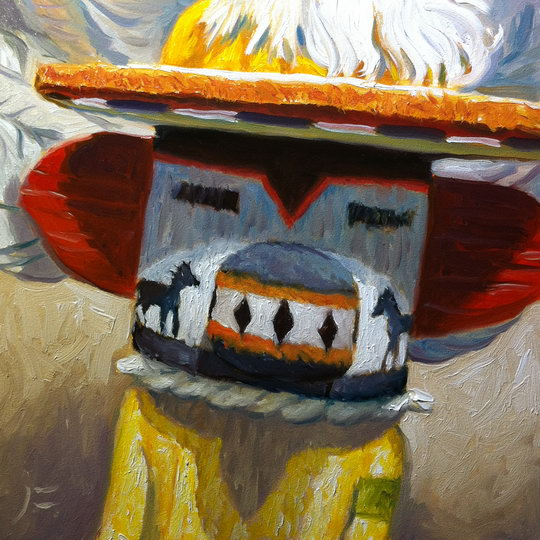 HORSE KACHINA / Oil on Panel / 6 x 6 Inches / ©John Farnsworth