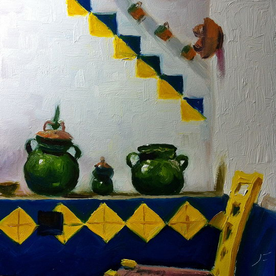 IN FRIDA'S KITCHEN Daily Painting #538