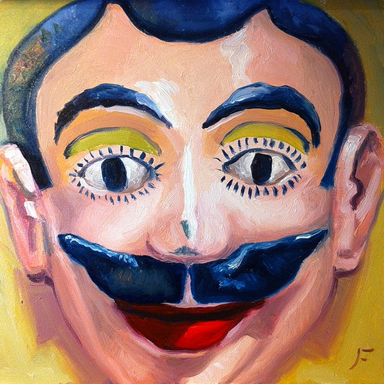 MASCARA DE ALEGRE (HAPPY MASK)  / Oil on Panel / 6 x 6 Inches / ©John Farnsworth