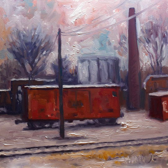 Boxcar in Winter