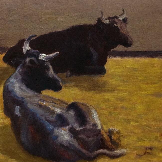 Roping Steers, Resting